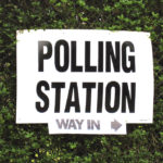 uk polling station sign by Paul Albertella